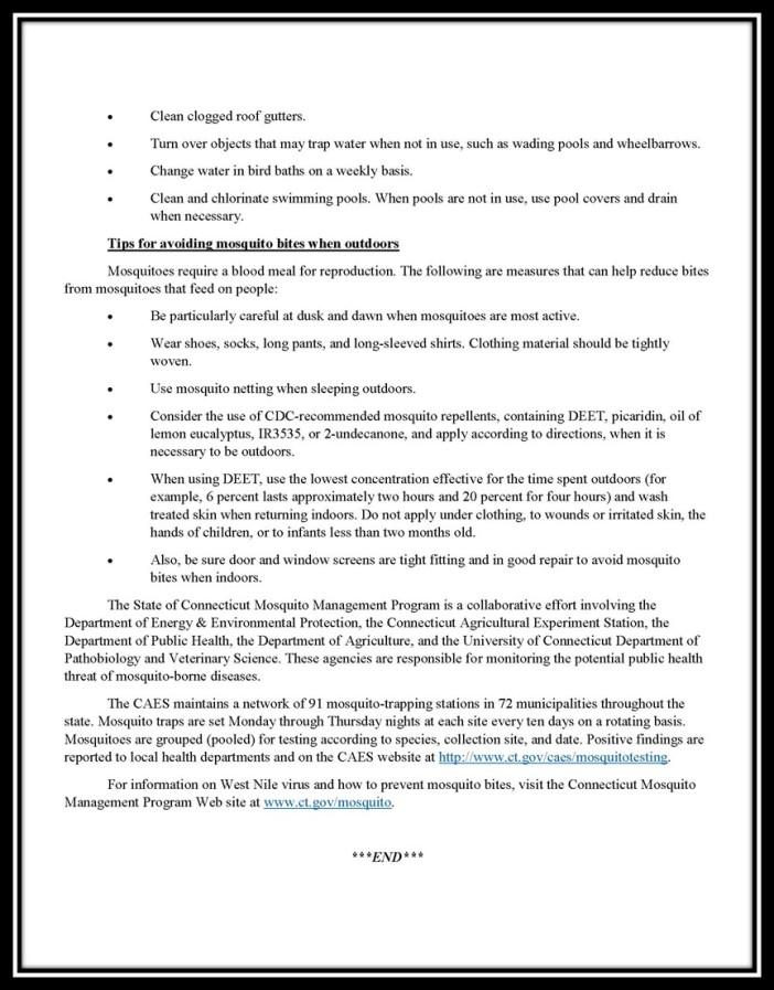 CT Press Release 2 WNV