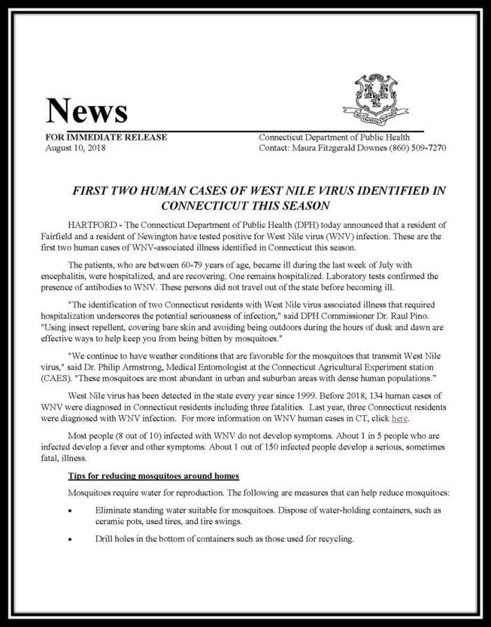 CT Press Release WNV